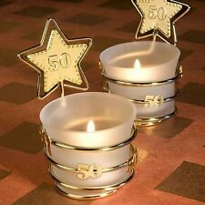 30 Gold Star Design 50Th Anniversary Celebration Candle Wedding Favors