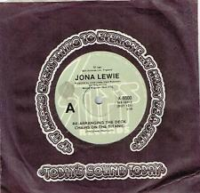 "JONA LEWIE - RE-ARRANGING THE DECK CHAIRS ON THE TITANIC - 7"" 45 RECORD - 1981"