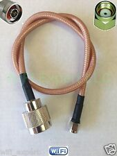 1' RG400 M17/128 RP-SMA Male to N Male Silver coated RF WiFi US