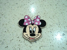 New Disney Minnie Mouse Embroidered Patch - Applique Badge - Iron-on / Sew On