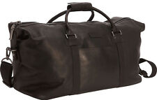 """Kenneth Cole Reaction Colombian Leather 20"""" Zip Duffel Bag Luggage - Brown"""