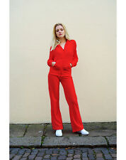 Lady's cotton velour tracksuits hood hoodie hoody and jogging pants plain color