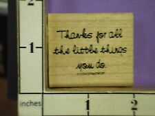 stampin up 1994 saying thanks for all the little things you do rubber stamps 32w