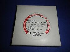 1000 Stück Rundfilter  Ø 1,6 cm  Filter Schleicher & Schuell 0858 eig