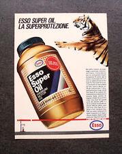 [GCG] L225- Advertising Pubblicità -1985- ESSO SUPER OIL , LA SUPERPROTEZIONE