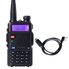 BaoFeng UV-5R 136-174/400-479MHz Dual Band 2 way radio + USB programming cable