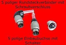 5 poliger Rundsteckverbinder mit Schalter von Amphenol Steckverbinder Stecker