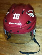 ARIZONA COYOTES Max Domi game-worn 2014-15 preseason+rookie camp Easton helmet
