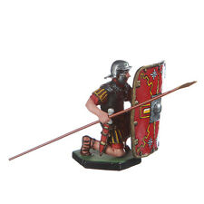 Tin Toy Soldier Roman Legionary defending metal sculpture 54mm painted #18.07b