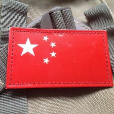 RED China Flag Chinese Flag Reflect IR MILITARY Tactical AIRSOFT PATCH