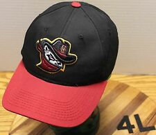 YOUTH QUAD CITY RIVER BANDITS HAT BLACK & RED ADJUSTABLE VERY GOOD CONDITION
