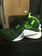 Nike Lebron Soldier IX TB Green/Metallic  Electric Men 749498-301 SIZE 9