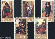 Paintings by Maltese artist Edward Caruana Dingli set of 5 mnh stamps Malta 2001