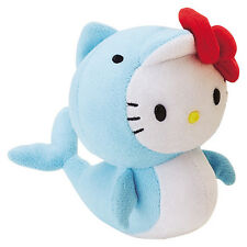 Hello Kitty Mascot Size Marine Plush  - Dolphin