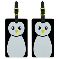 Penguin Cute Luggage Suitcase Carry-On ID Tags Set of 2