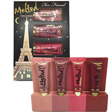 Too Faced Melted French Kisses Liquified Long Wear Lipstick 4pc Gift Set Kit