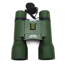 NIPON® 8x35 Roof Prism Binoculars. Twist-up eyecups, wide field of view
