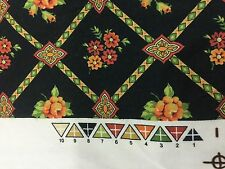 Pierre Deux KRAVET FABRIC FRENCH- PIERRE FREY GORGEOUS BLACK TRELLIS FLORAL WOW!