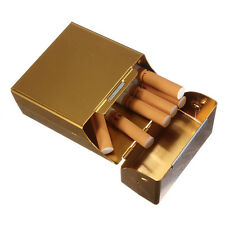 Gold Colour ALUMINIUM CIGARETTE BOX . . . . cigaret metal case cigeret coloured