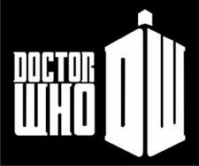 Doctor Who Decal, White vinyl sticker for car or computer