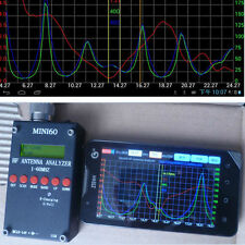 2015 Mini60 HF ANT SWR Antenna Analyzer Meter + Bluetooth Android & PC Software