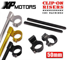 "50mm CNC High Lift 1"" Riser Clip-On Handlebar Fits Ducati MONSTER Series Bikes"