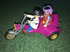 Playmobil 3832 Playmobile Purple Bike & Hippie Couple Man Woman