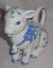 VTG Creamer 1986 Franklin Mint 'Country Friends' LAMB Creamer Pitcher-JC