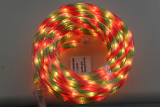 HOME ACCENTS 18 Ft IN or OUT Red Green White SUPER BRIGHT 216 LIGHT ROPE KIT NEW