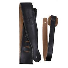 New Adjustable Black Soft Leather Thick Strap for Electric Acoustic Guitar Bass