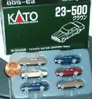 Six Kato N scale Toyota  automobiles NIB 23-500