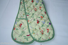 Double Oven Gloves.  Fruits and Flowers with Green Trim.  Pretty