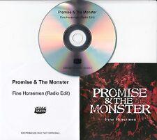 PROMISE & THE MONSTER Fine Horsemen 2016 UK 1-track promo test CD Bella Union