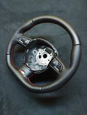 STEERING WHEEL AUDI S5 RS5 PERFORATED/SMOOT LEATHER  ! FLAT BOTTOM EXTRA PADDING