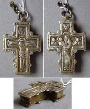 Croix reliquaire pendentif 19e siècle bijou ancien cross reliquary