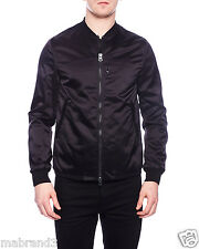 ACNE STUDIOS SELO LIGHT BLACK 46 MA-1 WATERPROOF SHELL BOMBER JACKET FOG $600