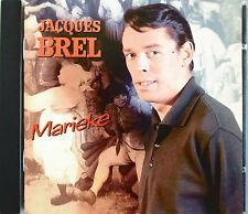 """JACQUES BREL - RARE CD 18 TITRES """"MARIEKE"""""""
