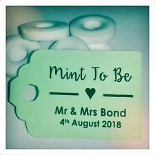 Personalised Mint to Be Wedding Favour Tags MINI Price Label Meant