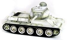Taigen hand painted rc réservoir T34/85 blanc d'hiver camo-full metal - 2.4GHz.