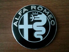 BLACK Alfa Romeo emblem badge logo insignia 74mm for 147,155, 159, 166