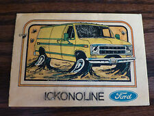 for sale FORD ECONOLINE club wagon conversion van vintage ad car part card funny