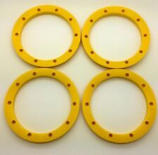 Silverback Rc (YELLOW) V3 Lipped Outer Beedlock Set (4) Losi 5ive & Hpi Baja 5b