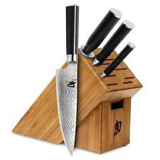 Shun Classic 5 piece Starter Knife Block Set w Chef's, Paring, & Utility DMS0510