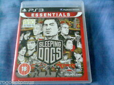 SLEEPING DOGS (2013 SONY PlayStation 3 Game with manual) PS3 ESSENTIALS