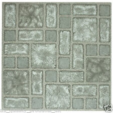 60 x Vinyl Floor Tiles - Self Adhesive - Bathroom Kitchen BNIB - Grey Mosaic 189