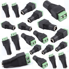 10PCS 12V DC Power Jack Connectors Female Cable Adapter Fitting CCTV/LED Strips