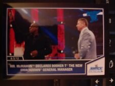 2013 Topps Best of WWE #37 Mr. McMahon Declares Booker T Manager BLUE Parallel