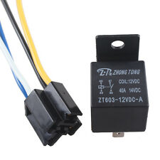 Car Auto Truck 12V 12 Volt DC 40A AMP Relay & Socket SPST 4Pin 4 Wire Sales