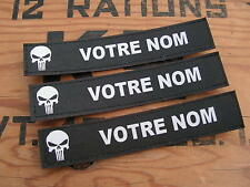 Bande patronymique .: NOIRE + PUNISHER :. LoT de 3 patro PERSONNALISABLE