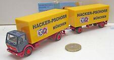 """Herpa  MB NG Koffer Hängerzug  2/2 achs  """"Hacker-Pschorr"""""""